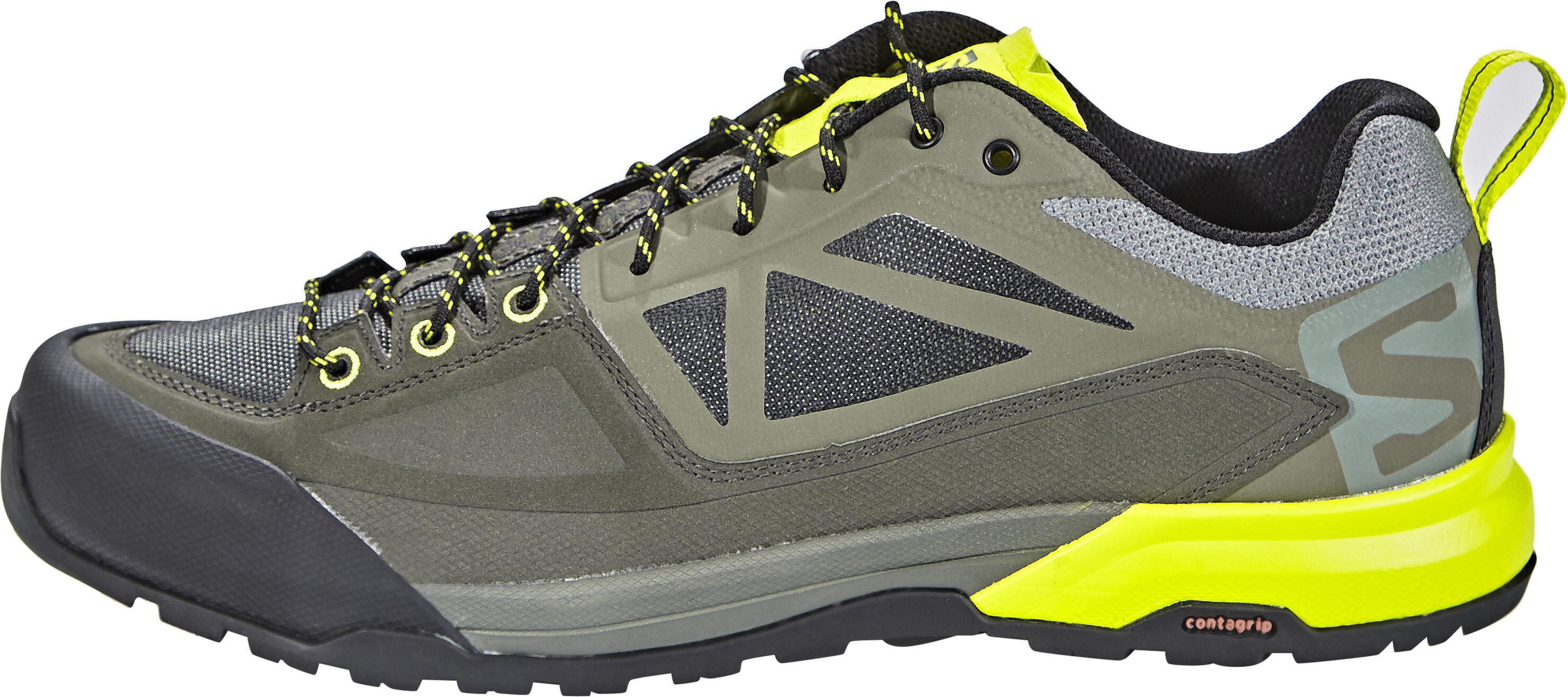 Salomon X Alp Spry Shoes Men grey olive at Addnature.co.uk 1281e3fb1d6